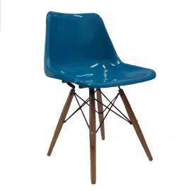 silla robin day con patas de madera
